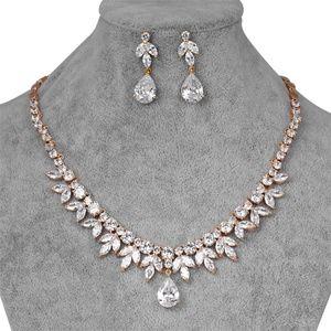 Bridal Wedding CZ Gold Plated Jewelry Set # 311
